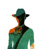Homem em um toga. Foto de Stock Royalty Free