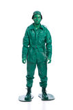 Homem em um traje verde do soldado de brinquedo Imagem de Stock Royalty Free