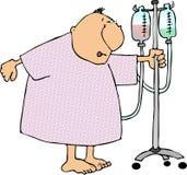 Homem em um vestido do hospital ilustração royalty free