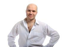 Homem em uma camisa branca Fotos de Stock Royalty Free