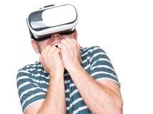 Homem em vidros de VR Foto de Stock Royalty Free