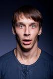 Homem emocional Fotos de Stock