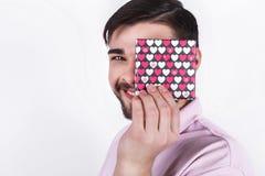Homem emocional feliz Foto de Stock
