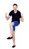 Homem energético muito feliz Fotografia de Stock Royalty Free