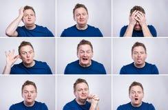 Homem engraçado Fotografia de Stock Royalty Free