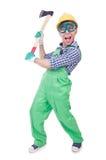 Homem engraçado com machado Imagem de Stock Royalty Free