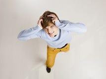 Homem engraçado do yung Foto de Stock Royalty Free
