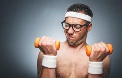 Homem engraçado dos esportes Imagem de Stock