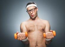 Homem engraçado dos esportes Fotos de Stock Royalty Free