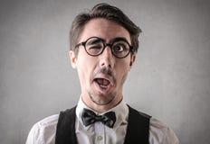 Homem engraçado que faz gracejos Fotos de Stock Royalty Free