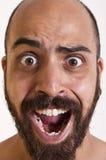 Homem engraçado que grita Imagens de Stock Royalty Free