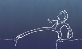 Homem engraçado dos desenhos animados Fotos de Stock Royalty Free