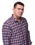 Homem enojado Imagens de Stock