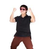 Homem entusiasmado de Ásia Foto de Stock