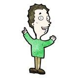 homem entusiasmado dos desenhos animados Imagens de Stock Royalty Free