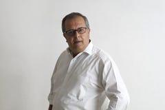 Homem envelhecido médio foto de stock