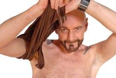 Homem envelhecido médio, militar foto de stock