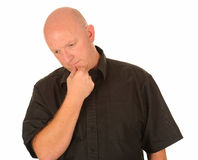 Homem envelhecido médio pensativo Fotografia de Stock