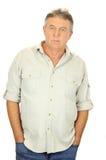 Homem envelhecido médio sério Fotos de Stock