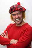 Homem escocês irritado Foto de Stock Royalty Free