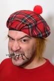 Homem escocês irritado Foto de Stock