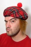 Homem escocês irritado Imagens de Stock