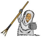 Homem Eskimo Hunter Vetora Image ilustração royalty free
