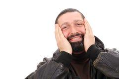 Homem espantado Fotos de Stock Royalty Free