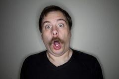 Homem espantado Fotografia de Stock