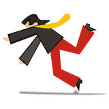 Homem estilizado que cai para baixo Imagens de Stock Royalty Free