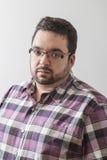 Homem excesso de peso foto de stock