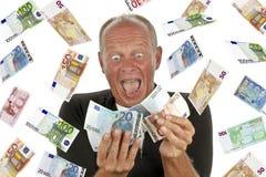 Homem excitado totalmente imagens de stock royalty free