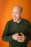 Homem Excited Fotografia de Stock