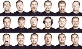 Homem - face da emoção Imagens de Stock Royalty Free
