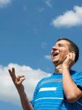 Homem falador Imagem de Stock