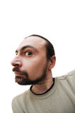Homem farpado caucasiano que faz caretas Fotografia de Stock Royalty Free