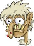 Homem feio, alcoólicode Â, um viciado em drogas ilustração do vetor