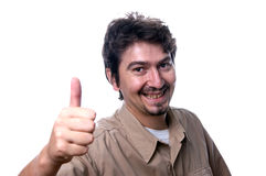 Homem feliz Imagem de Stock Royalty Free