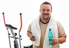 Homem feliz após o exercício Imagem de Stock Royalty Free