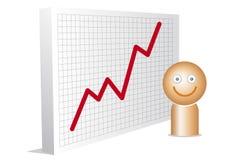 Homem feliz com carta Fotos de Stock