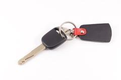 Homem feliz com chave nova do carro Fotografia de Stock Royalty Free