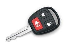 Homem feliz com chave nova do carro Foto de Stock