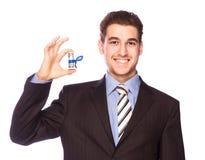 Homem feliz com dinheiro Fotos de Stock