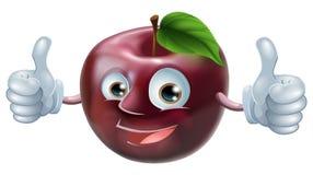 Homem feliz da maçã Fotografia de Stock Royalty Free