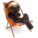Homem feliz das férias do Xmas do caráter de Smiley Merry Christmas Fotografia de Stock Royalty Free