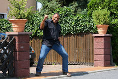 Homem feliz do americano africano Imagem de Stock Royalty Free