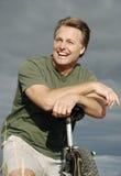 Homem feliz dos anos quarenta Fotos de Stock Royalty Free