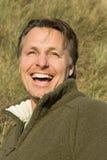 Homem feliz dos anos quarenta Imagem de Stock