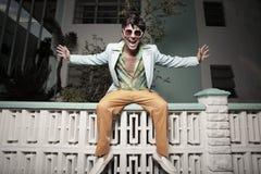 Homem feliz Funky Imagem de Stock