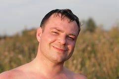 Homem feliz no verão Imagem de Stock